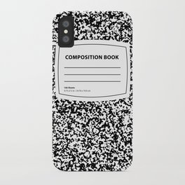 Composition Book iPhone Case