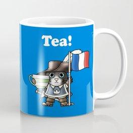 Tea Musketeercat Blue Coffee Mug