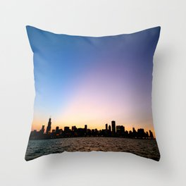 Chicago Skyline Silhouette Throw Pillow