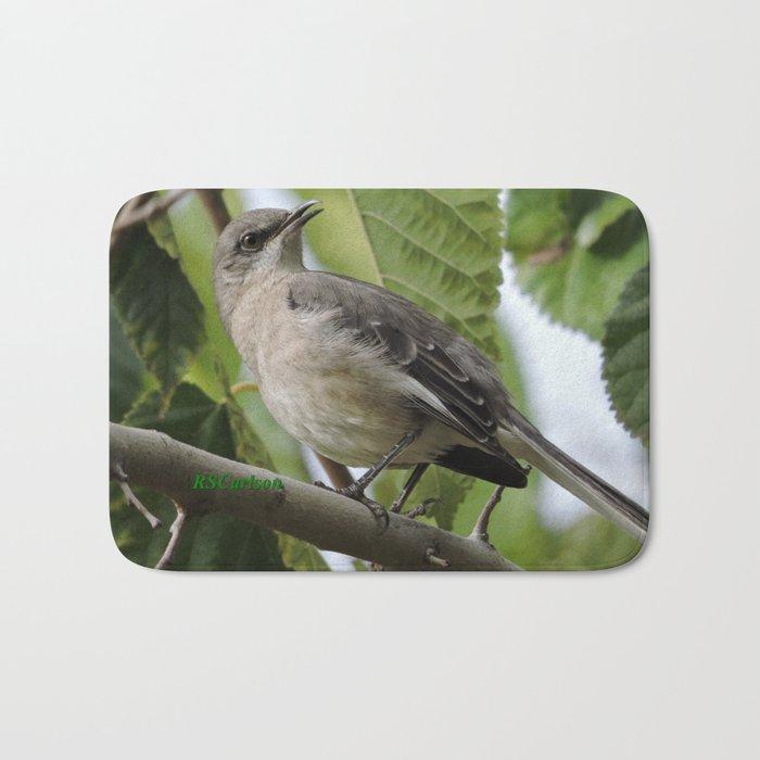 Mockingbird in a Mulberry Tree Bath Mat