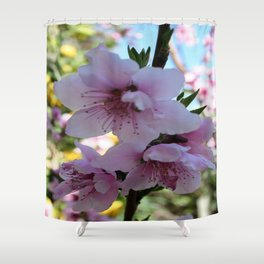 Pastel Shades of Peach Tree Blossom Shower Curtain
