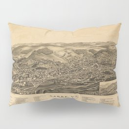 Aerial View of Barre, Vermont (The Granite City) 1891 Pillow Sham