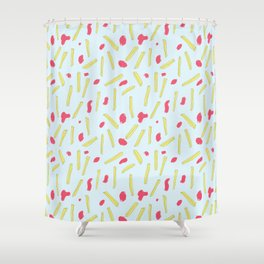 Cheerful Fries Shower Curtain