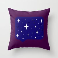 sayings Throw Pillows featuring Star Sayings by Mantha