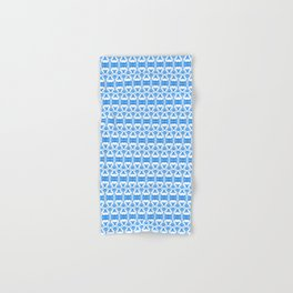 Dividers 02 in Blue over White Hand & Bath Towel