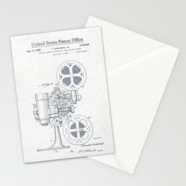 Movie projector Stationery Cards