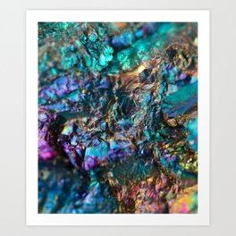 Turquoise Oil Slick Quartz Kunstdrucke