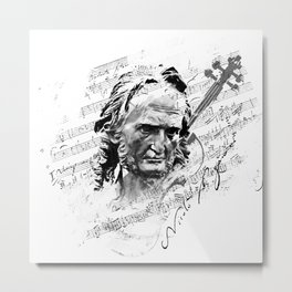 Niccolò Paganini Metal Print
