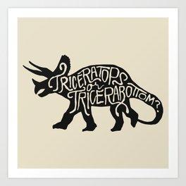 Triceratops or Tricerabottom? Art Print
