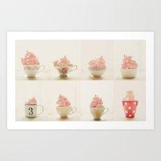 Sweet Pink Meringues  Art Print