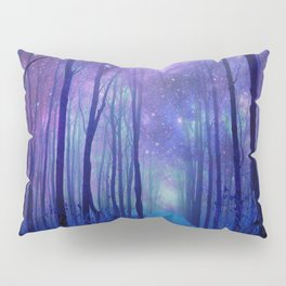 Fantasy Path Purple Blue Pillow Sham
