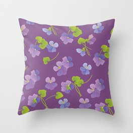 Forest Violet Throw Pillow