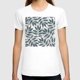 Modern autumn leaves image T-shirt