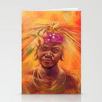 spice Stationery Cards featuring Spice Kid by The Art of Vancuf