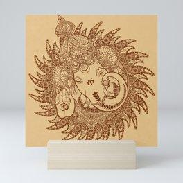 Ganesha Lineart Scroll Mini Art Print