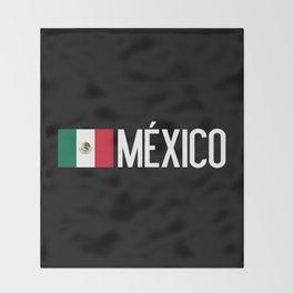 Mexican Flag & México Throw Blanket