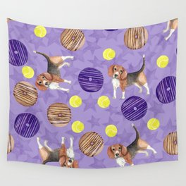 Beagles and donuts Wall Tapestry