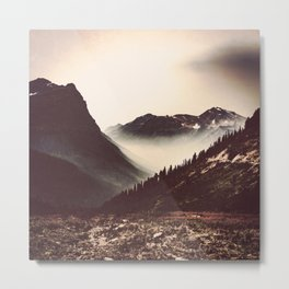 Montana Mountain Pass Metal Print