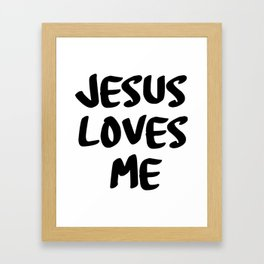 Jesus loves me Framed Art Print
