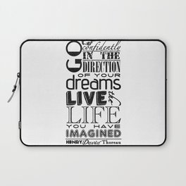 Henry David Thoreau Dreams Quote Laptop Sleeve