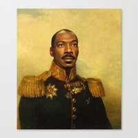 eddie vedder Canvas Prints featuring Eddie Murphy - replaceface by replaceface
