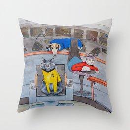 Catship Enterprise Throw Pillow