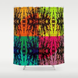 4 different squares Shower Curtain