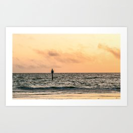 Clearwater Beach Sunset Art Print