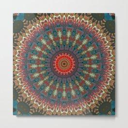 Basal Color Mandala 10 Metal Print