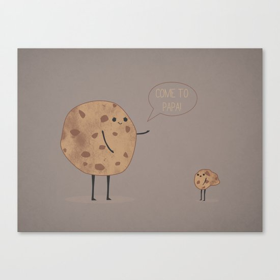 Cannibal Cookie Canvas Print