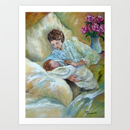 Mother and Child by May Villeneuve Art Print