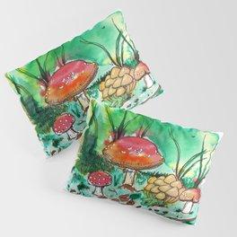 Toadstool Mushroom Fairy Land Pillow Sham