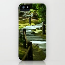 Moss gardern path iPhone Case