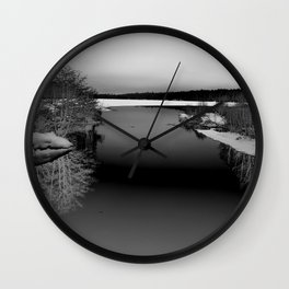Then There is Cold... in Black and White Wall Clock