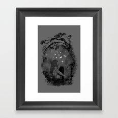Boredom Strikes Framed Art Print