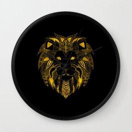 Amazing Zentangle LION Wall Clock