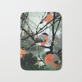 Bullfinches Bath Mat