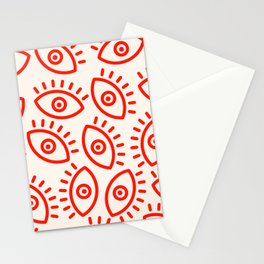 Eye Pattern Stationery Cards