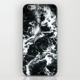 Waves - Black and White Abstract iPhone Skin