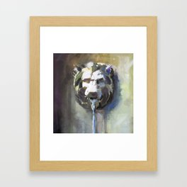 Lionhead Fountain Framed Art Print