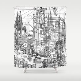 San Francisco! (B&W) Shower Curtain