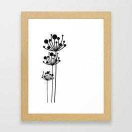 Minimal Floral Framed Art Print