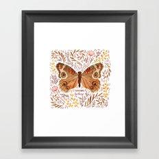 Common Buckeye Butterfly Framed Art Print