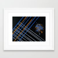 grid Framed Art Prints featuring Grid by Last Call