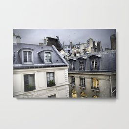 Paris Rooftops Metal Print