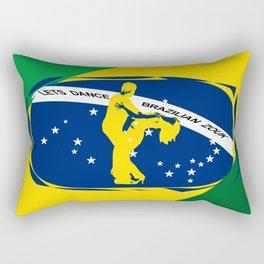 lets dance brazilian zouk flag design Rectangular Pillow