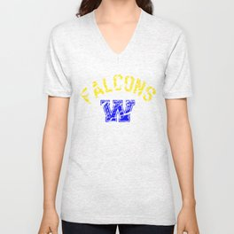 Jackson Public Schools Bands: Wingfield Falcons Unisex V-Neck