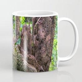 A cyclone damaged tree in the rain forest Coffee Mug