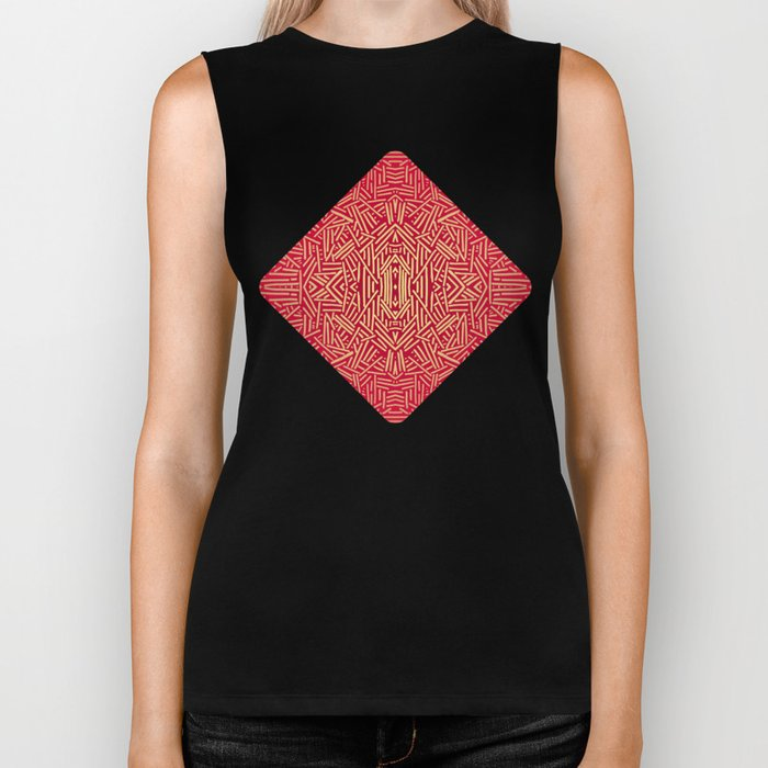 Radiate (Red Yellow Ochre non-metallic) Biker Tank