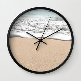 Wave Foam // California Ocean Pier Sandy Beaches Surf Country Pacific West Coast Photography Wall Clock